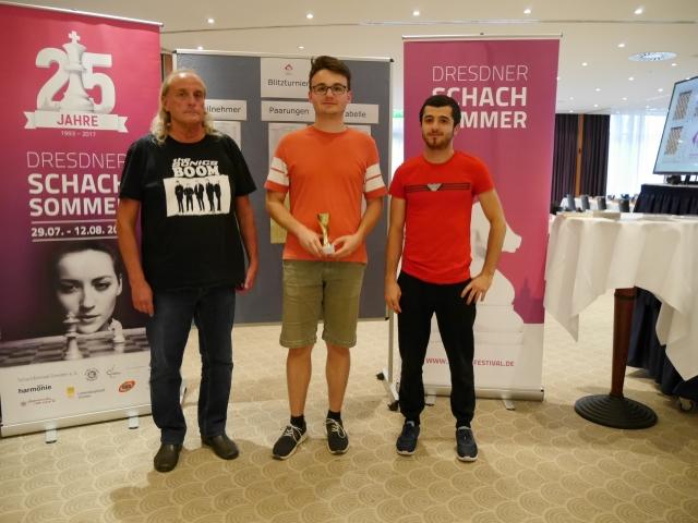 v.l.n.r.: 2. Karsten Schulz, 1. Roven Vogel, 3. Hayk Mirimanian, Foto: Ausrichter